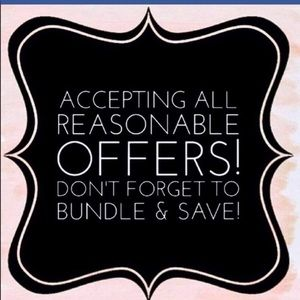 Accepting all reasonable offers!! Bundle and save!